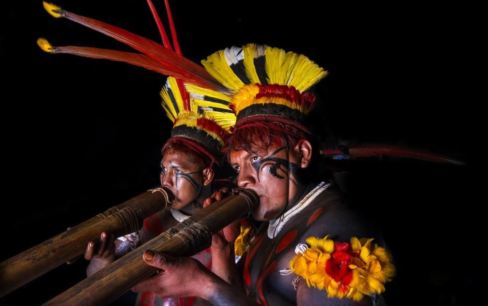 Foto do francês Olivier Boëls de índios da etnia Yawalapiti, que vive no Parque Indígena do Xingu (Foto: Olivier Boëls/Arquivo pessoal)