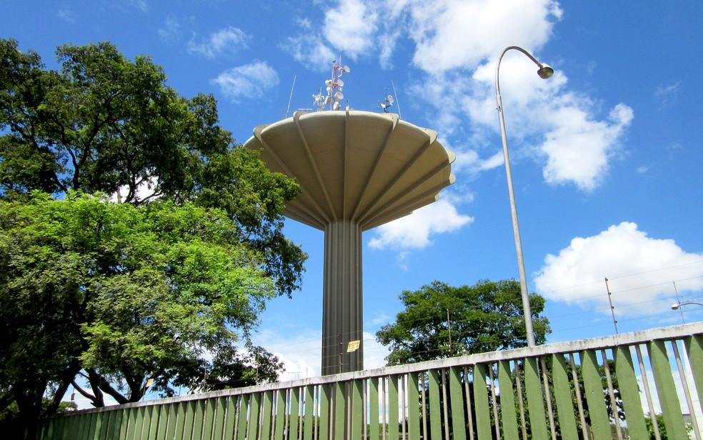 Caixa d'água de Ceilândia, um dos símbolos da região — Foto: Gabriela Berrogain/G1