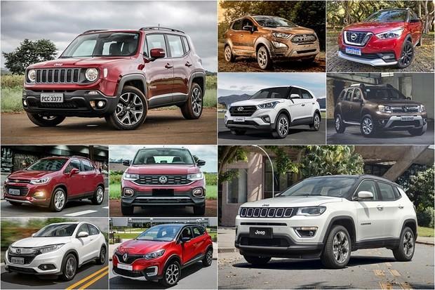 SUVs mais vendidos 2019 (Foto: Autoesporte)