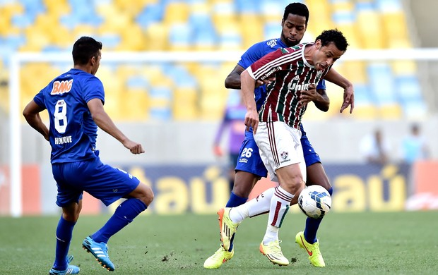Fred e Dede, Fluminense X Cruzeiro (Foto: Getty Images)