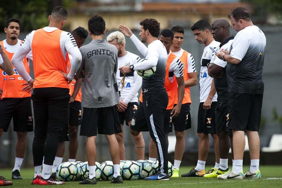 Elano em treino do Santos (Foto: Ivan Storti/Santos FC)