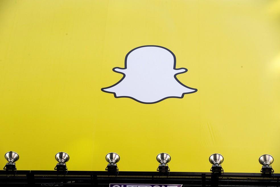 Painel com o logo do Snapchat, exibido na Times Square, em Nova York. (Foto: Lucas Jackson/Reuters)