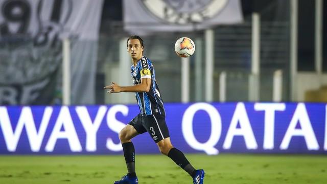 Geromel em Santos 4x1 Grêmio pela Libertadores
