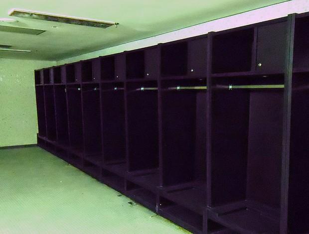 Maracanã: quase prontos, vestiários já têm armários para os jogadores