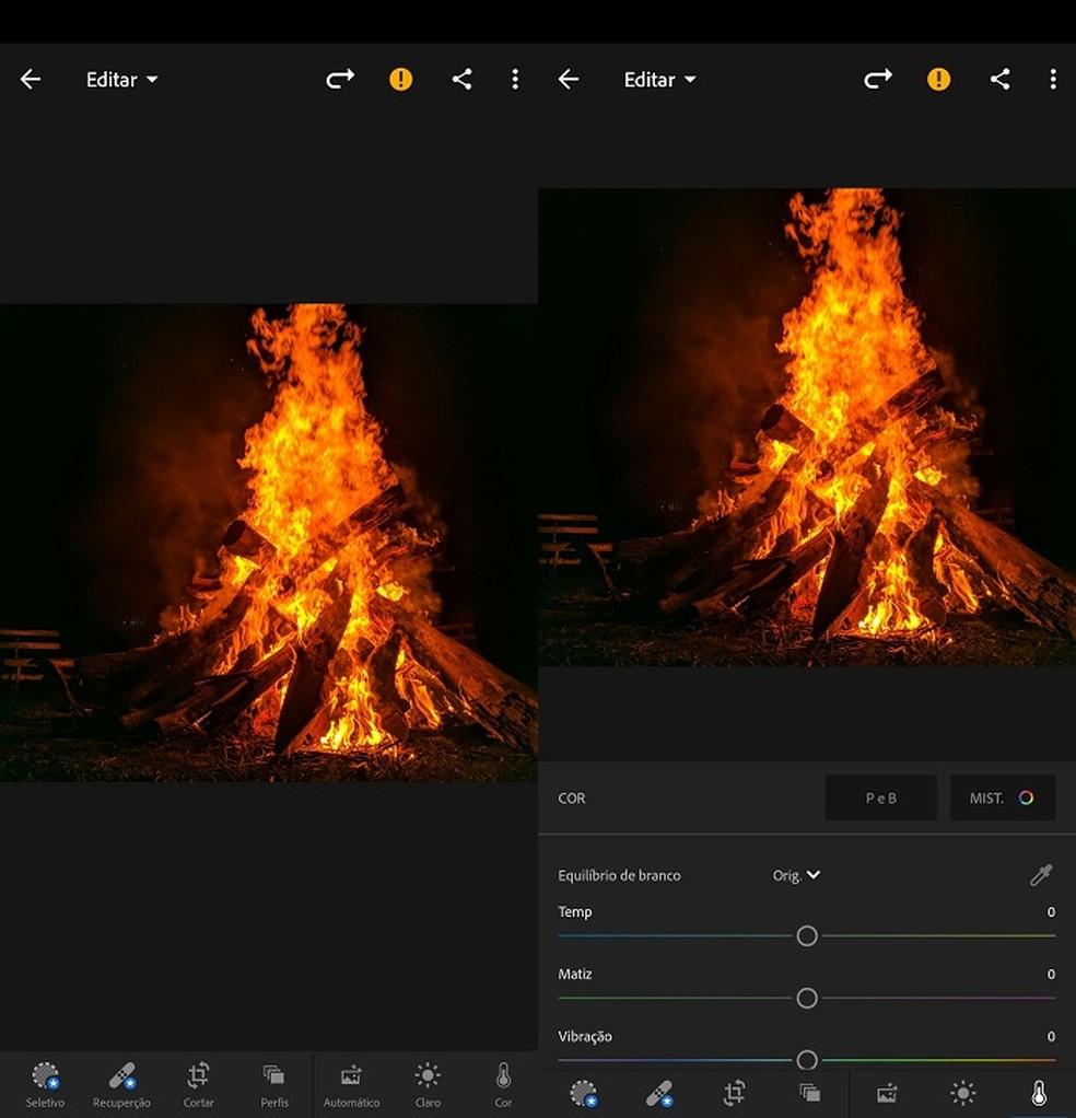 O Adobe Lightroom se destaca por seus controles precisos e ajustes de nível profissional — Foto: Fernando Telles/TechTudo
