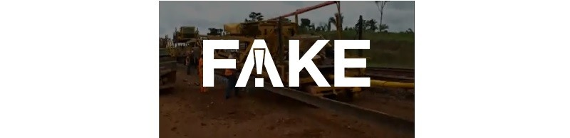 É #FAKE que vídeo mostre obra do governo Bolsonaro em ferrovia de Marabá