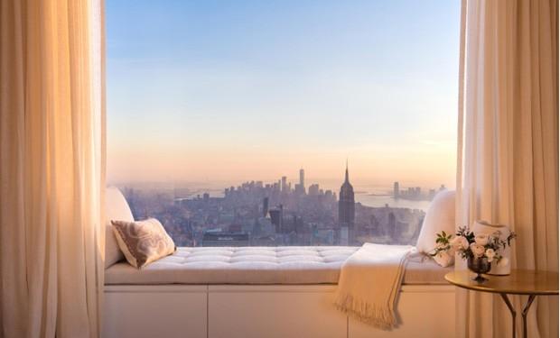 Vista de um dos apartamentos no condomínio da 432 Park Avenue, onde Jennifer Lopez comprou um aparatamento com seu namorado (Foto: DBOX for CIM Group/Macklowe Properties / Reprodução)