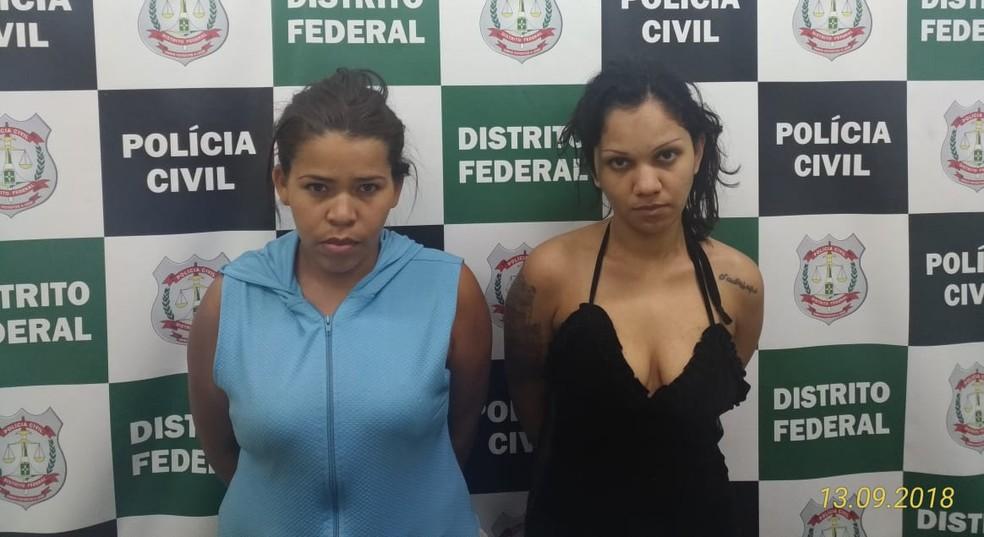 Dupla é suspeita de aplicar golpes de 'boa noite, Cinderela', no DF — Foto: PCDF/Divulgação