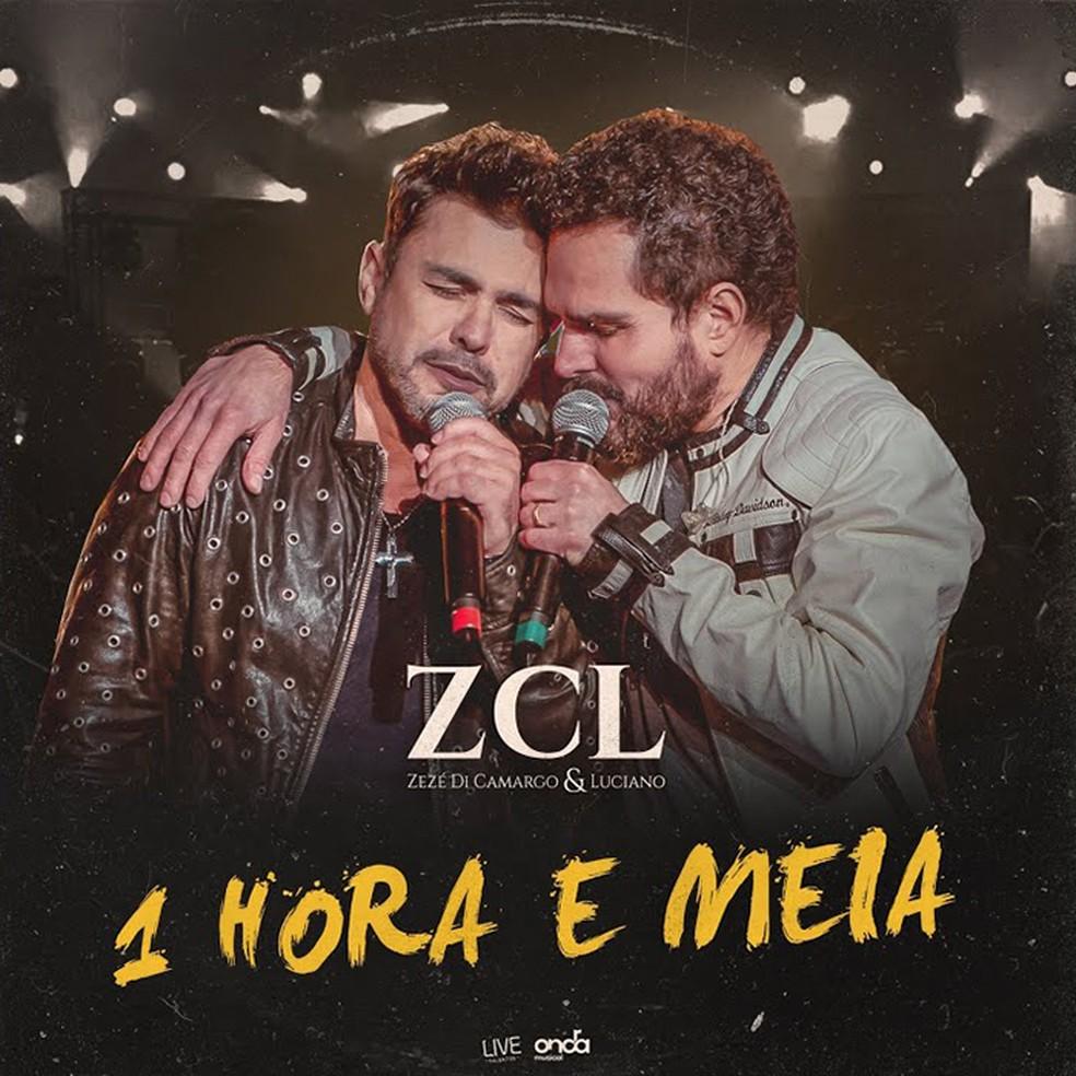 Capa do single '1 hora e meia', de Zezé Di Camargo & Luciano — Foto: Reprodução