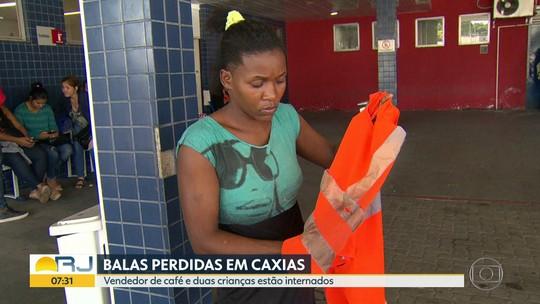 Três atingidos por balas perdidas, em Caxias, estão internados
