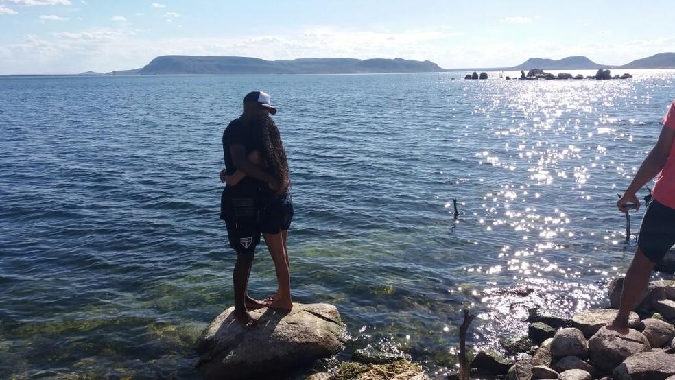 Nos braços de Elinha, Toró curte o amor da sua vida (Foto: Arquivo pessoal)