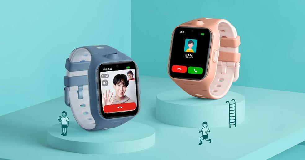 Mi Bunny Children's Watch 4 permite ao usuário fazer vídeo chamadas em alta resolução — Foto: Divulgação/Xiaomi