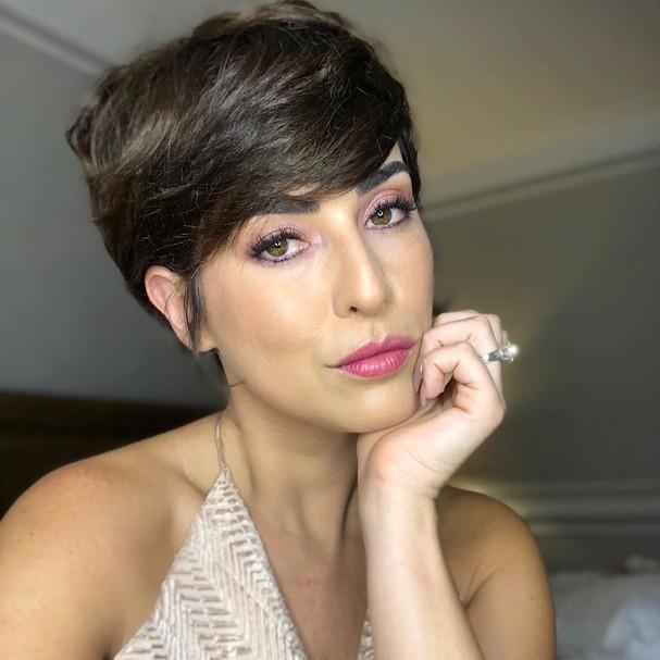 Fernanda Paes Leme com cabelos curtinhos (Foto: Reprodução / Instagram)