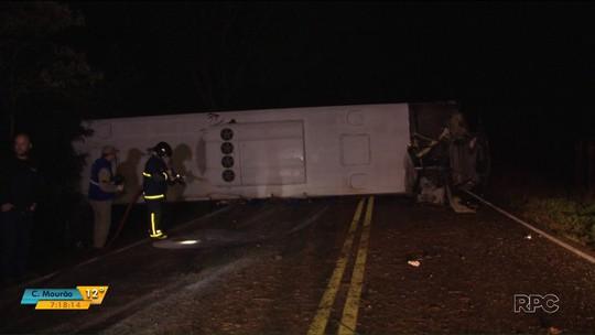 Nove estudantes ficam feridos em acidente de ônibus no sudoeste do Paraná