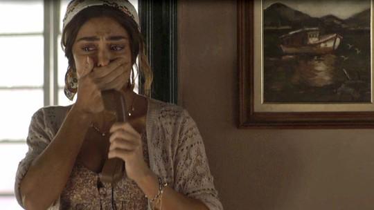 Maria da Paz se desespera com a notícia da morte de Amadeu
