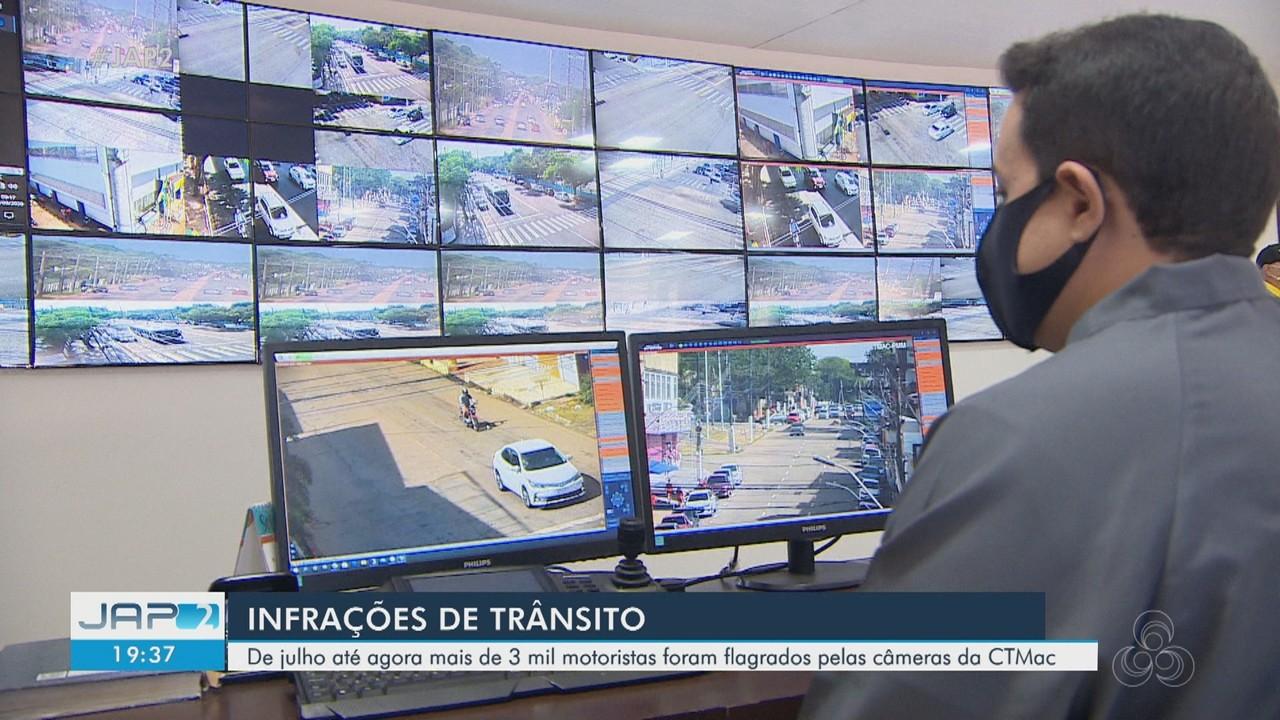 Desde julho câmeras de CTMac flagraram mais de 3 mil motoristas em infrações de trânsito