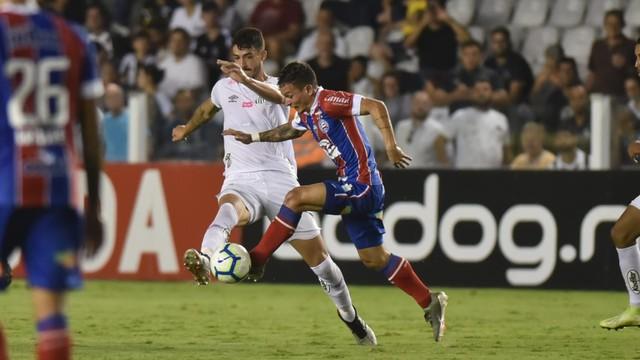 Santos e Bahia se enfrentaram na Vila Belmiro