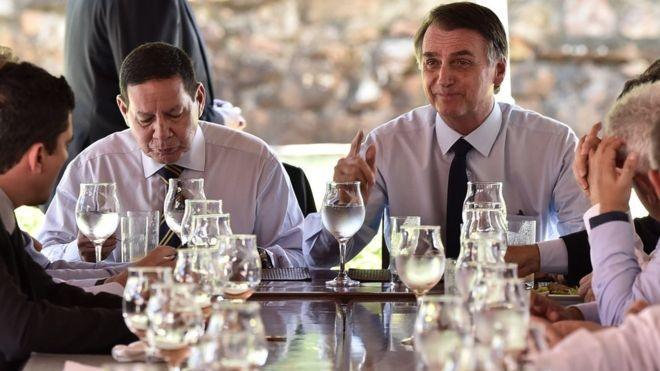 Jair Bolsonaro durante reunião com a equipe de transição do governo (Foto: DIVULGAÇÃO\ TRANSIÇÃO GOVERNAMENTAL)