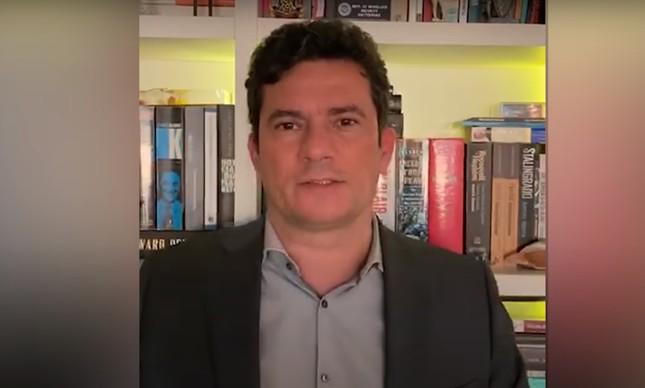 Sergio Moro em vídeo publicado pela revista Crusoé