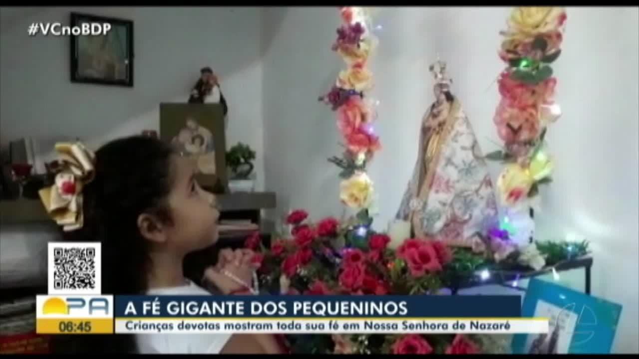Quadro 'Pequeninos' fala sobre a fé das crianças durante o Círio