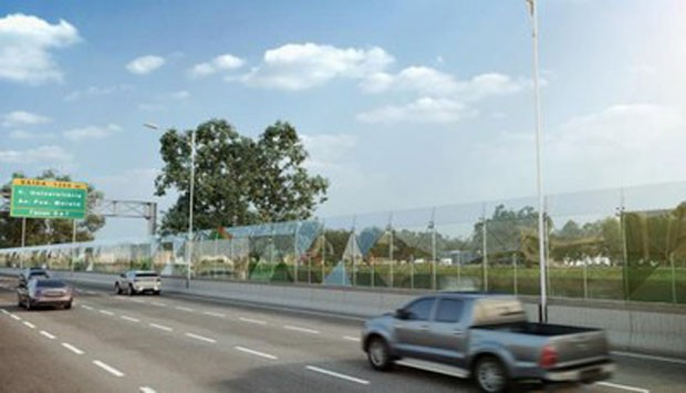 Muro de vidro: solução integra ou divide a cidade? (Foto: Divulgação)