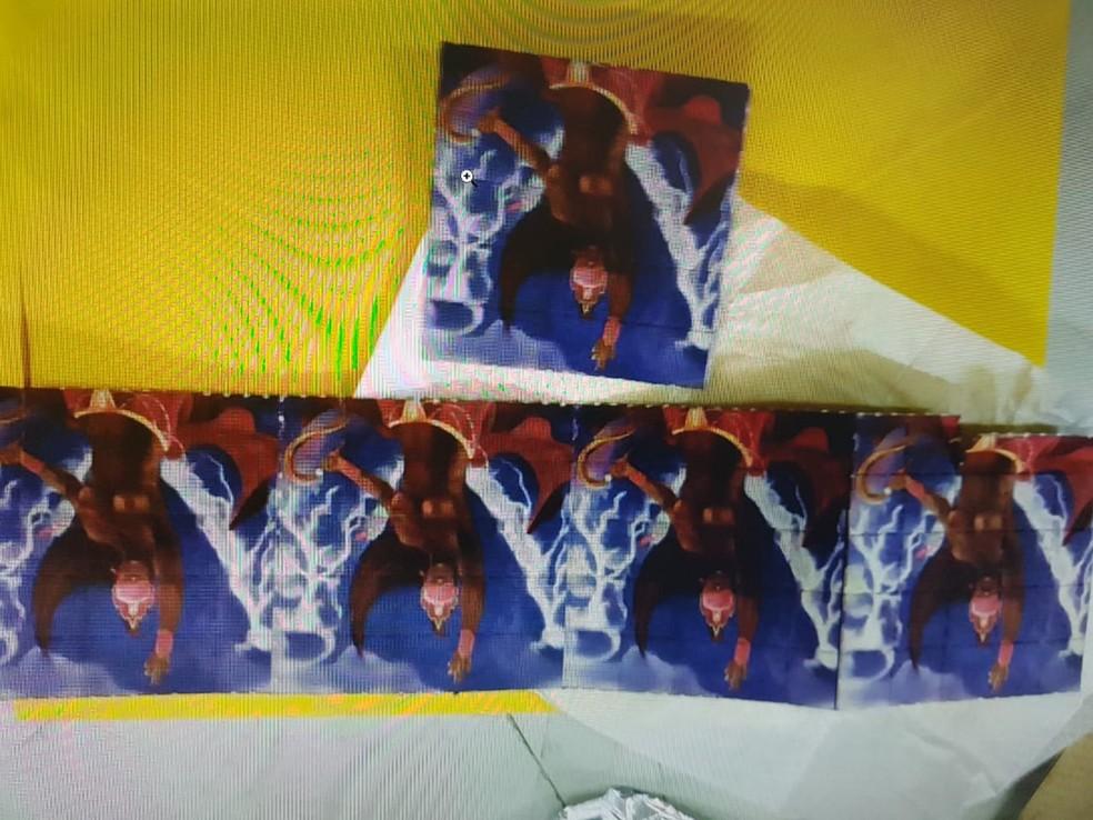 Dentro do envelope foram encontrados 150 micropontos da droga LSD. — Foto: Divulgação/Polícia Federal