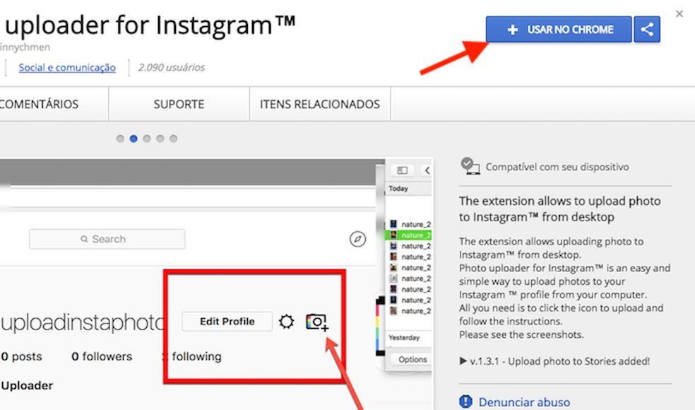 Como postar Stories do Instagram pelo PC com extensão para Chrome