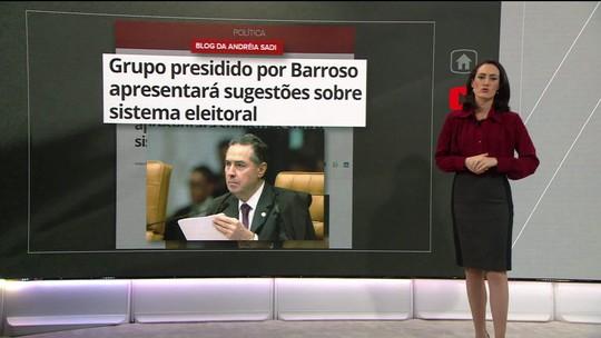 Grupo presidido por Barroso apresentará sugestões sobre sistema eleitoral, diz blog