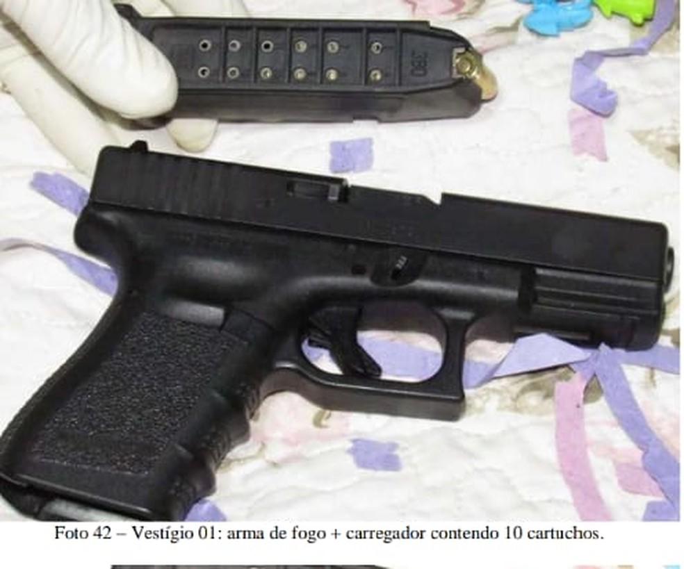 Arma usada no crime passou por exames periciais do Instituto de Polícia Científica da Paraíba  — Foto: Divulgação