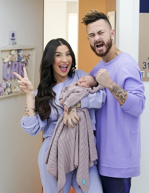 Bianca Andrade e Fred com Cris (Foto: Thalita Castanha)