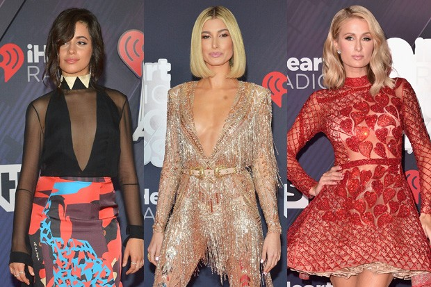 Camila Cabello, Hailey Baldwin e Paris Hilton (Foto: Getty Images)
