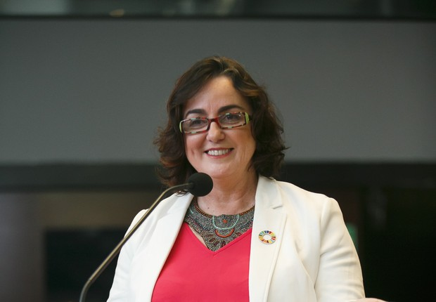 Denise Hills, presidente do conselho da Rede Brasil do Pacto Global e Chief Sustainability Advisor do Itaú Unibanco (Foto: Cauê Diniz – Divulgação B3 )