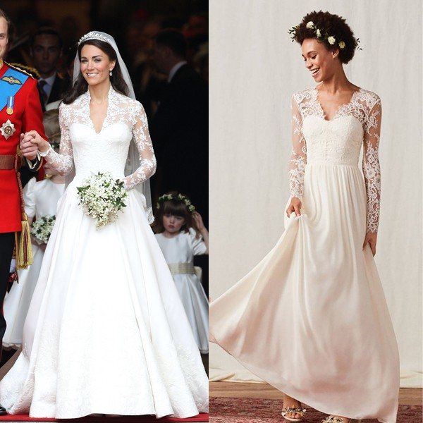 Vestido Alexander McQueen de Kate Middleton X vestido H&M (Foto: Getty Images)