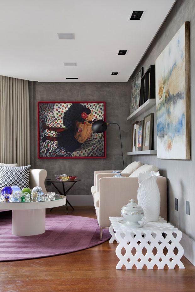 Décor do dia: reforma de sala de estar integrada com varanda (Foto: Denílson Machado)