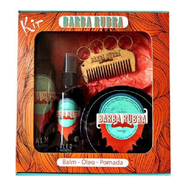 Kit Barba | Composto por 01 Balm, 01 Òleo de Barbear e 01 Shampoo para Barba | Da Giuliana Flores, R$72,50. (Foto: Divulgação)