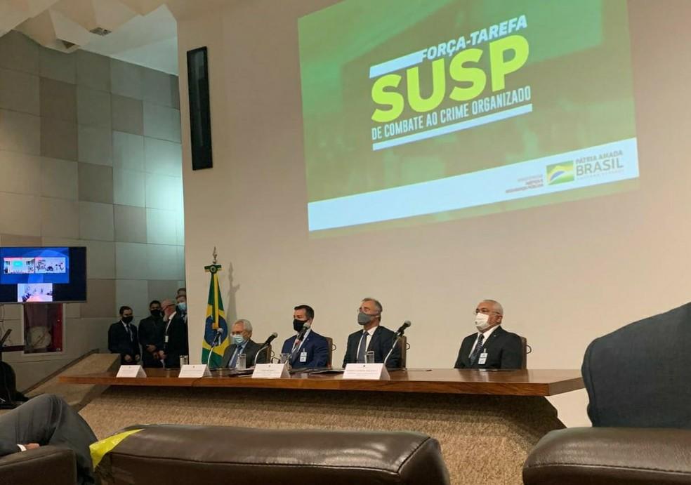 Rio Grande do Norte adere a programa de Forças Tarefa SUSP do Ministério da Justiça — Foto: Daniel Estevão/MJSP/Divulgação