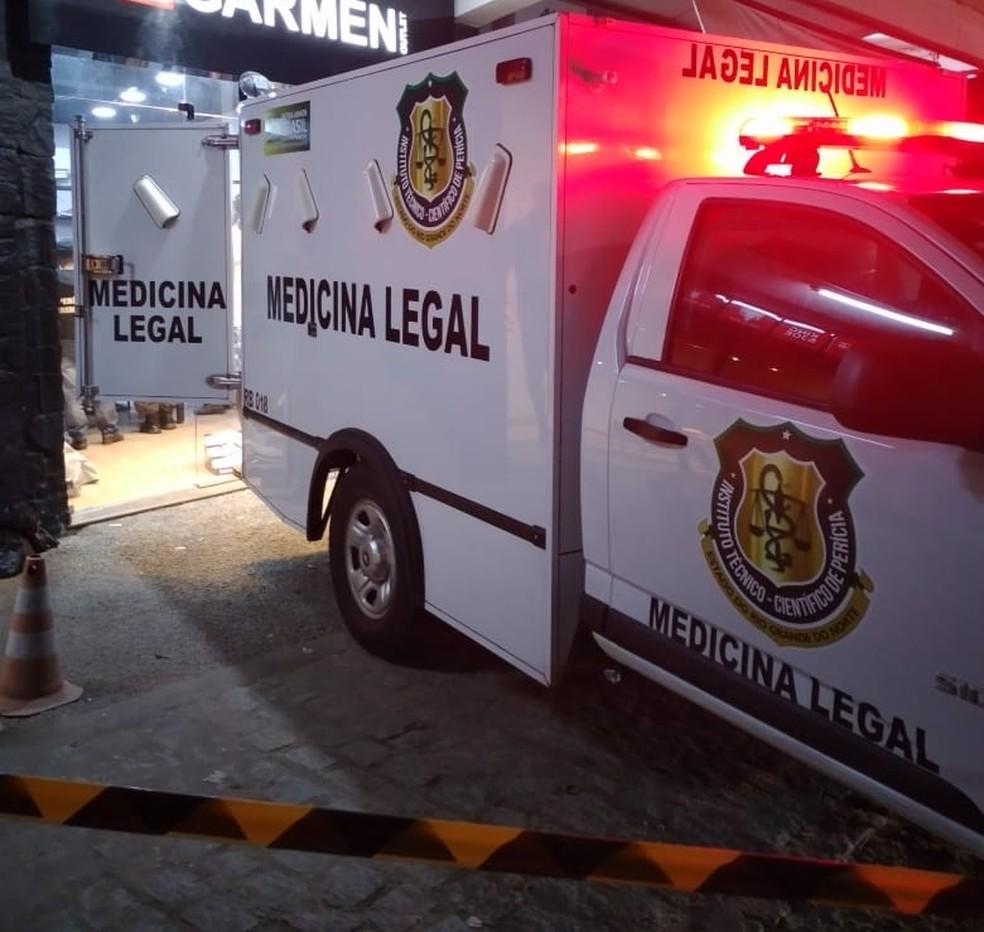 Comerciante foi morto a tiros dentro de loja de roupas — Foto: Plantão Caicó/Cedida