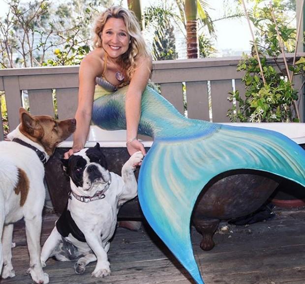 Linden Wolbert e seus cachorros (Foto: Divulgação / Instagram)