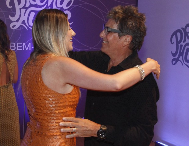 Dani Calabresa e Evandro Mesquita (Foto: Marcos Ferreira/Brazil News)