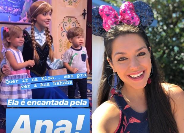 Thaís Fersoza e os filhos, Melinda e Teodoro, na Disney (Foto: Reprodução/Instagram)