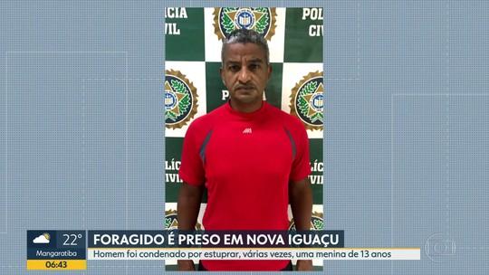 Condenado por estuprar menina é preso em Nova Iguaçu