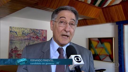 Fernando Pimentel (PT) faz campanha em Diamantina
