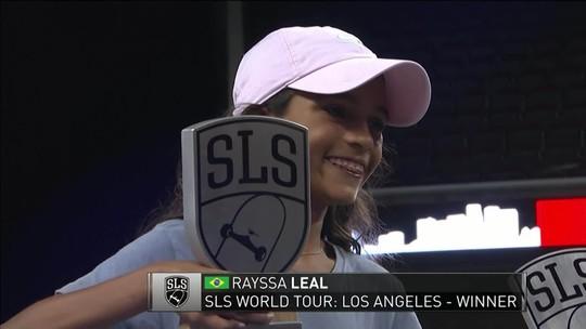 Histórico! Aos 11 anos, Rayssa Leal, a 'Fadinha', é campeã da etapa de Los Angeles da SLS 2019