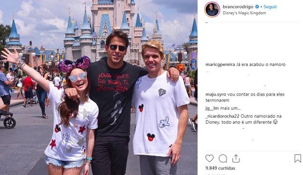 Fãs comentam namoro de Larissa Manoela e Leo Cidade (na foto com Rodrigo Branco) (Foto: Reprodução Instagram)