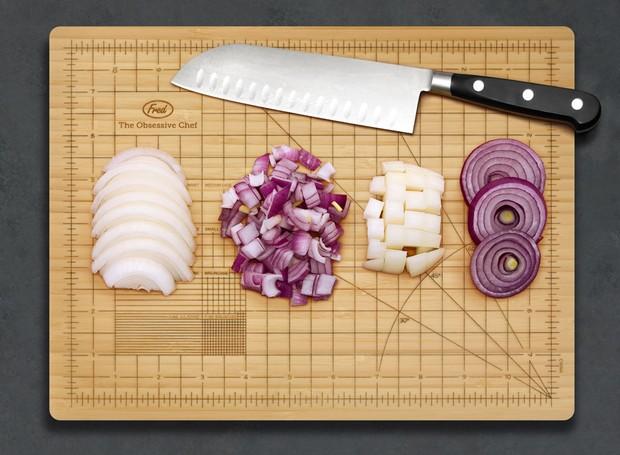 Tábua de cortar alimentos (Foto: Reprdoução/Fred And Friends)