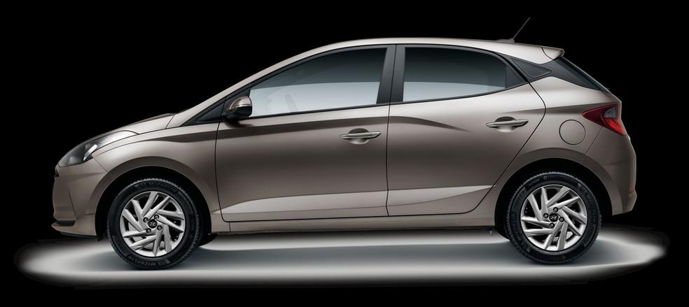 HB20 hatch Evolution ganha lanternas escurecidas — Foto: Divulgação/Hyundai