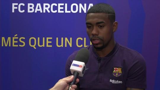 """Malcom destaca ajuda de Messi no Barcelona: """"Suficiente para me deixar com a cabeça boa"""""""