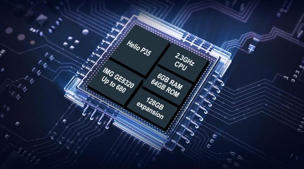 Celular chinês vem com processador da MediaTek e 6 GB de RAM — Foto: Divulgação/Oukitel