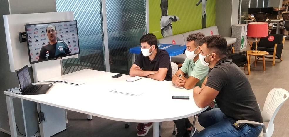 Rogério Ceni, técnico do Flamengo, em entrevista ao EE — Foto: Janir Júnior / GE