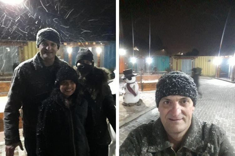 Turistas vêem neve pela primeira vez e celebram em SC: 'Foi incrível, inexplicável e inesquecível'